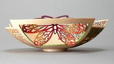 "Joey Richardson collaboration with Binh Pho 5"" Sycamore, pierced and airbrushed with acrylic colours"