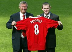 Sir Alex Ferguson with young Wayne Rooney,when sigNed by Manchester United