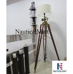 NauticalMart Al-Nurayn Royal Marine Tripod Floor Lamp Royal Marines, Tripod Lamp, Light Decorations, Modern Interior, Lamp Light, House Design, Contemporary, Lighting, Floor Lamps