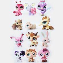 Children Kids toys Gift LPS 12Pcs/Set Little Pet Shop Mini Figures Toys Little Animal Cat Dog Action Figures(China (Mainland))