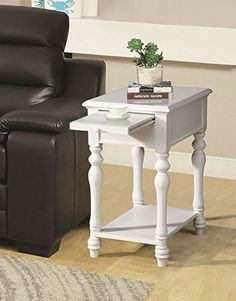 ACME Furniture 81922 Alina Side Table, Ivory