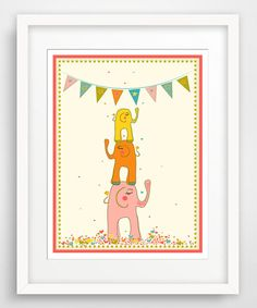 Another great find on #zulily! Pink Elephant Stack Giclée Print by Finny and Zook #zulilyfinds