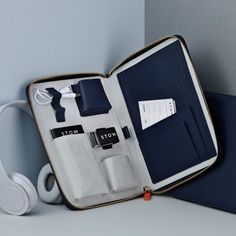 Luxury Leather Travel Tech Case
