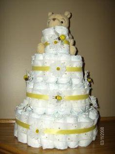 Pooh Diaper Cake/Hive