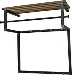 Wandkapstok Rizzoli - blacksmith staal eiken - Spinder Design