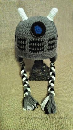 Dalek Hat Dr Who inspired Beanie or with by xoxoTouchOfLovexoxo, $20.00