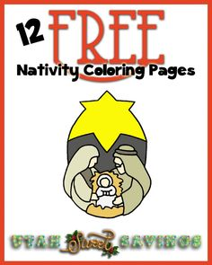 12 FREE Nativity Coloring Pages