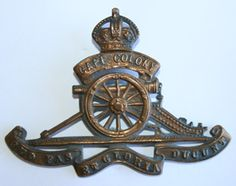 Prince Alfred's Own Field Artillery Cap Badge. Worn 1903-1922
