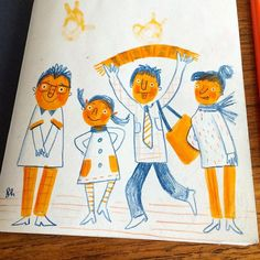 Sketchbook of Illustrator and Hand-lettering artist, Linzie Hunter
