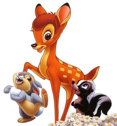 Bambi /& Faline~8 x 10 Mat Print~Don/'t Be Bashful~DISNEY/'S DEER~New