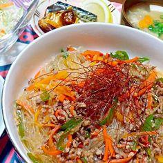 麻婆春雨  小松菜と油揚げの煮浸し他 - 33件のもぐもぐ - 晩御飯 by yukimaru218