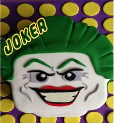 Lego Cake of The Joker!   Learn how to make him yourself here : http://youtu.be/HxHUWvZA-l8