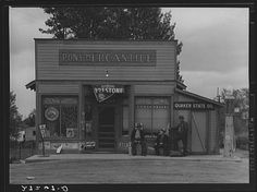 #tbt Now that's a small business. Enterprising Montanans at the Pony Mercantile, Pony, Mont. 1939 #SBW2014