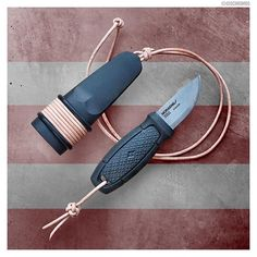 Survival Knife, Survival Gear, Paracord Projects, Paracord Ideas, Mora Knives, Man Gear, Martial Arts Weapons, Bushcraft Gear, Neck Knife