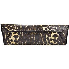 Pre-owned Sexy VBH Leopard Print Clutch (2 020 AUD) ❤ liked on Polyvore featuring bags, handbags, clutches, handbags and purses, pre owned purses, animal print clutches, leopard purse, animal print purses y leopard print handbags