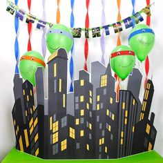 To make your little teenage mutant ninja turtle's party stand out from the rest, try a Personalized TMNT Party, with supplies from BirthdayExpress! Ninja Turtle Party, Ninja Turtle Birthday, Ninja Turtles, 3rd Birthday Parties, Diy Birthday, Birthday Ideas, Turtle Classroom, Kids Party Themes, Party Ideas