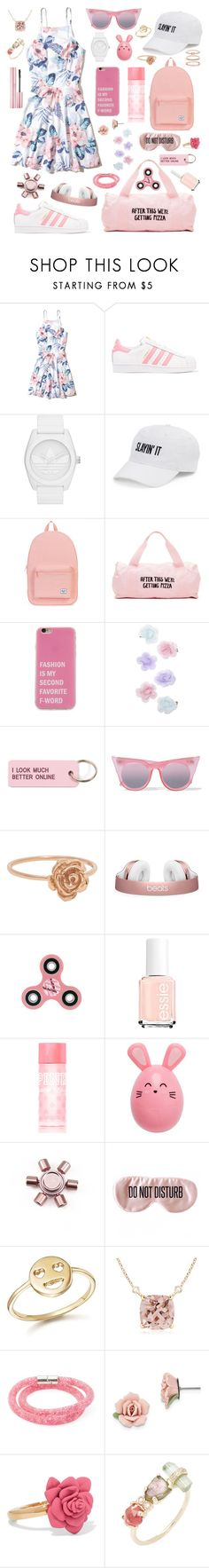 """""""Cute"""" by jojogena ❤ liked on Polyvore featuring beauty, Hollister Co., adidas Originals, SO, Herschel, ban.do, Monsoon, Various Projects, Le Specs and Victoria's Secret PINK"""