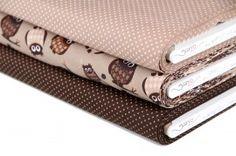 Stenzo stoffenpakket Jipshop Uilen en stippen bruin | Najaarscollectie 2012