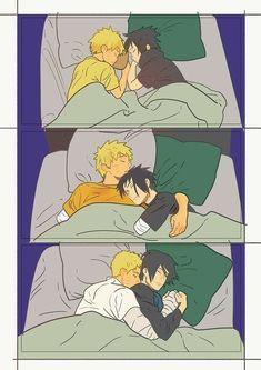 Naruto and Sasuke Im crying :'v Naruto Shippuden Sasuke, Naruto Kakashi, Naruto Comic, Anime Naruto, Naruto Cute, Gaara, Hinata, Shikamaru, Naruko Uzumaki