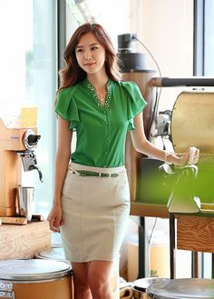 Model Baju Kantor Korea