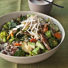 Quinoa and Brown Rice Bowl with Vegetables and Tahini | Food & Wine