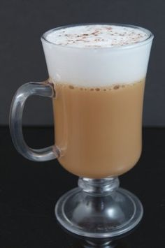 Fake Food Irish Coffee In Acrylic Glass