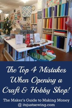 If you've ever considered opening a fabric, knitting or craft shop - this is a must read.