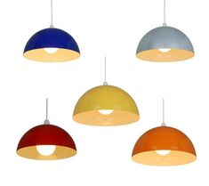 Retro Metal L&shade Coolie Ceiling L& Light Shade Pendant .  sc 1 st  Pinterest & MOXLEY Yellow bamboo easy-to-fit ceiling shade | Bamboo ceiling ...