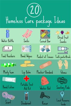 Here is a checklist of what to include in a homeless care package and tips for preparing a care package. Homeless Bags, Homeless Care Package, Food Vouchers, Blessing Bags, Kindness Matters, Service Projects, Good Deeds, Helping The Homeless, Band Aid