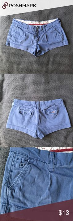 🔥SALE!!!🔥Hollister low rise shorts Blue shorts from Hollister. Size 5, excellent used condition. No apparent flaws, except light fading, but that may have been part of the original coloring Hollister Shorts