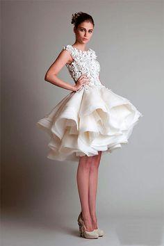 Короткое свадебное платье: вызов традициям
