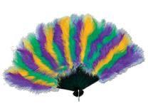 Mardi Gras Feather Fan