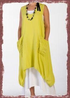 Oh My Gauze Cotton Lagenlook Brad Long CURV Hem Vest Tunic OSFM M L XL 1x Color | eBay