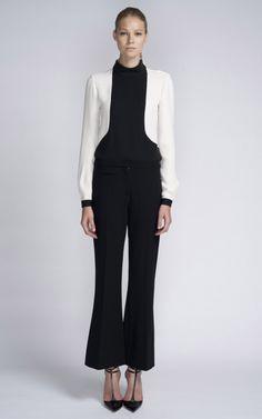 Shop Flare Tuxedo Pant by Bill Blass for Preorder on Moda Operandi