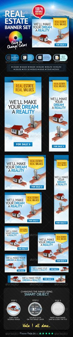 Real Estate Web Banner Set Template PSD | Buy and Download: http://graphicriver.net/item/real-estate-banner-set/7063982?WT.ac=category_thumb&WT.z_author=doto&ref=ksioks