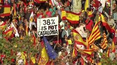 Catalan Independence: Spaniards holds Spanish unity rally in Barcelona