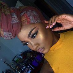 That highlight tho! Makeup Goals, Makeup Tips, Beauty Makeup, Hair Makeup, Hair Beauty, Black Girl Makeup, Girls Makeup, Makeup On Fleek, Flawless Makeup