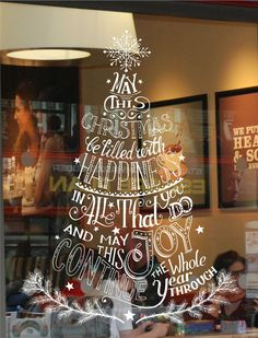 CHRISTMAS TREE WINDOW/ WALL DISPLAY STICKER DECORATION, BUSINESS, HOME DECOR in Business, Office & Industrial, Retail & Shop Fitting, Retail Display   eBay!