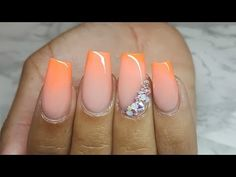 IBN Gel Polish Pink Ombre Nail - YouTube
