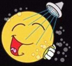 In the shower Smiley Emoticon, Animated Smiley Faces, Emoticon Faces, Smiley Happy, Emoji Love, Cute Emoji, Hug Friendship, Good Morning Hug, Naughty Emoji