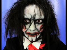 Jigsaw's Billy Doll Makeup Tutorial Halloween 2012 (Saw Movie Makeup)     this tutorial is pretty cool