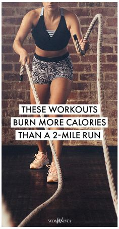 There are some mornings when the thought 2-mile run just isn't as exciting as it used to be. For those days, we like to mix it up with a comparable cardio kick that burns calories. Womanista.com