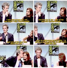 Jenna Coleman on working with Peter Capaldi. Favorite moment from the Comic Con Doctor Who panel.