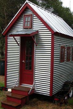 Corrugated! Nice. XS-House Plans