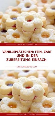 Vanilleplätzchen: fein, zart und in der Zubereitung einfach - galletas - Las recetas más prácticas y fáciles Easy Vanilla Cake Recipe, Chocolate Cake Recipe Easy, Chocolate Cookie Recipes, Chocolate Chip Cookies, Easy Cheesecake Recipes, Easy Cookie Recipes, Dessert Recipes, Vanilla Biscuits, Vanilla Cookies