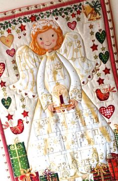 Advent Calendar Quilted Angel with Pockets