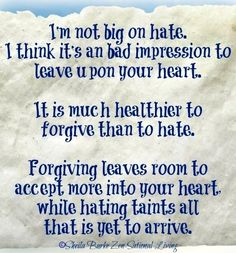 Forgiveness quote via www.ZensationalLiving.com and www.Facebook.com/BeZensational