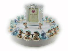 Torta bomboniera 22 fette bambini e ciucci celesti #nascita #battesimo #prezzoscontato