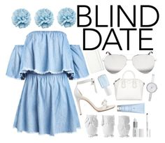 """Blind Date"" by gucci-af ❤ liked on Polyvore featuring Alexandre Birman, Victoria Beckham, DKNY, Givenchy, Gucci, Lord & Berry, Design 55, Moleskine, Essie and Drybar"