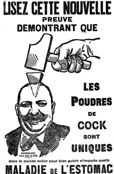 Poudres de Cock, for gastrointestinal disorders, 1909